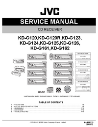 Manuale di servizio JVC KD-G120