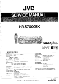 Manual de servicio JVC HR-S7000EK