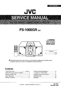 Service Manual JVC FS-1000GR