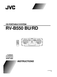 Manual del usuario JVC RV-B550 BU
