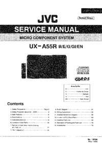 Manuale di servizio JVC UX-A55R