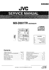 Service Manual JVC MX-D551TR