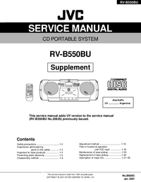 Serviço Manual Supplement JVC RV-B550BU