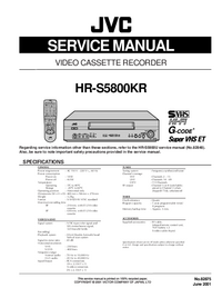 Service Manual JVC HR-S5800KR