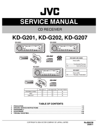 Serviceanleitung JVC KD-G201