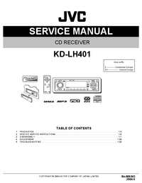 Service Manual JVC KD-LH401