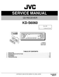 Руководство по техническому обслуживанию JVC KD-S6060