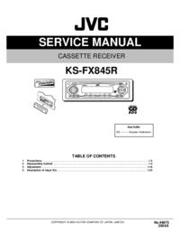 Servicehandboek JVC KS-FX845R