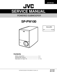Servicehandboek JVC SP-PW100