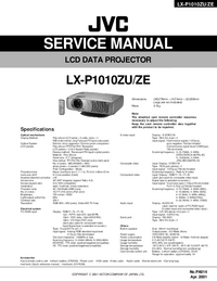 Manual de serviço JVC LX-P1010ZE