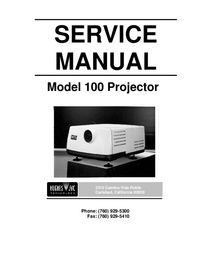 Manuale di servizio JVC Model 100