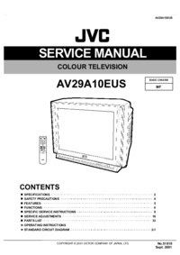 Instrukcja serwisowa JVC AV29A10EUS