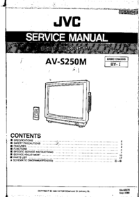 Instrukcja serwisowa JVC AV-S250M