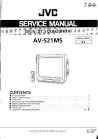 Manuale di servizio JVC AV-S21MS