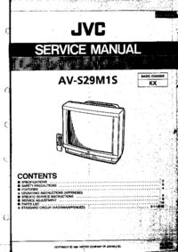 Руководство по техническому обслуживанию JVC AV-S29M1S