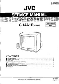 Руководство по техническому обслуживанию JVC C-14A1E