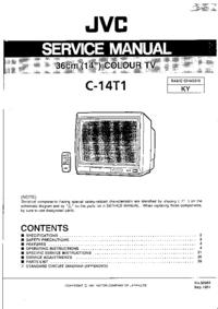 Manual de servicio JVC C-14T1