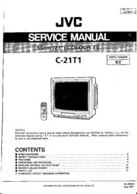 Instrukcja serwisowa JVC C-21T1