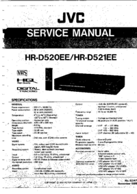 Manual de servicio JVC HR-D520EE