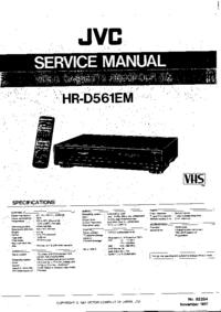 Service Manual JVC HR-D561EM