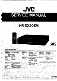 Руководство по техническому обслуживанию JVC HR-DX20EM