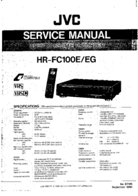 Service Manual JVC HR-FC100E