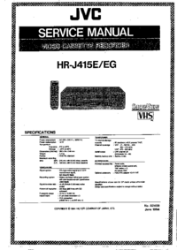 Service Manual JVC HR-J415EG