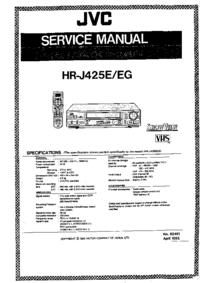Instrukcja serwisowa JVC HR-J425EG