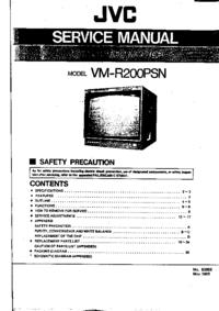Руководство по техническому обслуживанию JVC VM-R200PSN