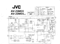 Cirquit Diagram JVC AV-25MEX