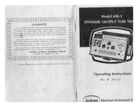 Manual del usuario Jackson 658-1