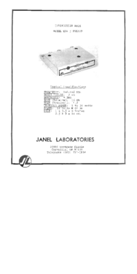User Manual with schematics Janel QSA 5