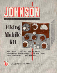 Service and User Manual Johnson Viking Mobile Kit