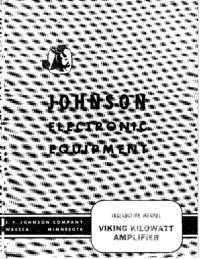Bedienungsanleitung Johnson Viking Kilowatt