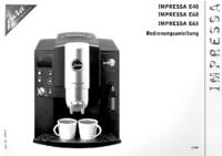 Руководство пользователя Jura Impressa E65