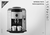 User Manual Jura Impressa F90