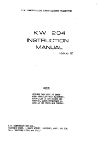 Servicio y Manual del usuario KW KW 204