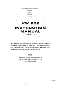 Servicio y Manual del usuario KW KW 202
