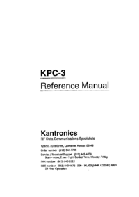 Serwis i User Manual Kantronics KPC-3