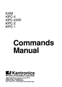 User Manual Kantronics KPC-4