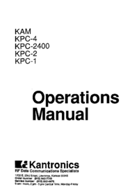 User Manual Kantronics KPC-2400
