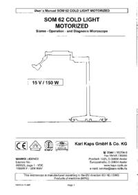 Manuale d'uso KarlKaps SOM 62