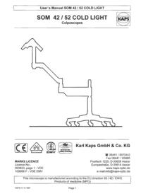 User Manual KarlKaps SOM 52