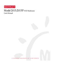 User Manual Keithley 2015P