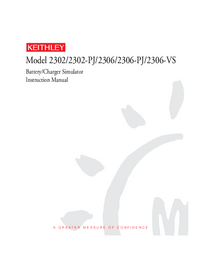 Serwis i User Manual Keithley 2302-PJ
