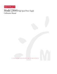 Manual del usuario Keithley 2304A