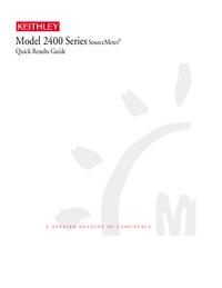 Manual del usuario Keithley 2400 Series