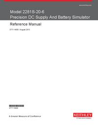 Manual del usuario Keithley 2281S-20-6