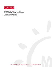 Gebruikershandleiding Keithley 2002