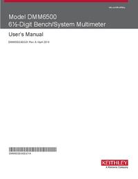 Gebruikershandleiding Keithley DMM6500